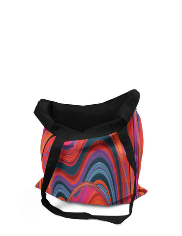 Abstra Volcano Canvas Tote Bag