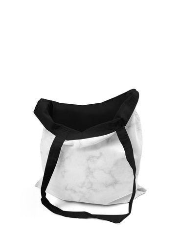 Abstra White Marble Canvas Tote