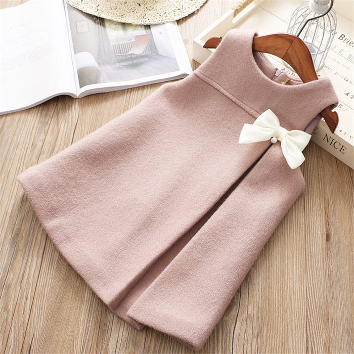 girl casual warm sleeveless dress