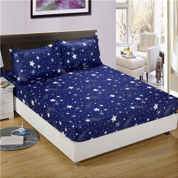 Cartoon Kids Fitted Sheet with Elastic Queen/King Size Mattress Set