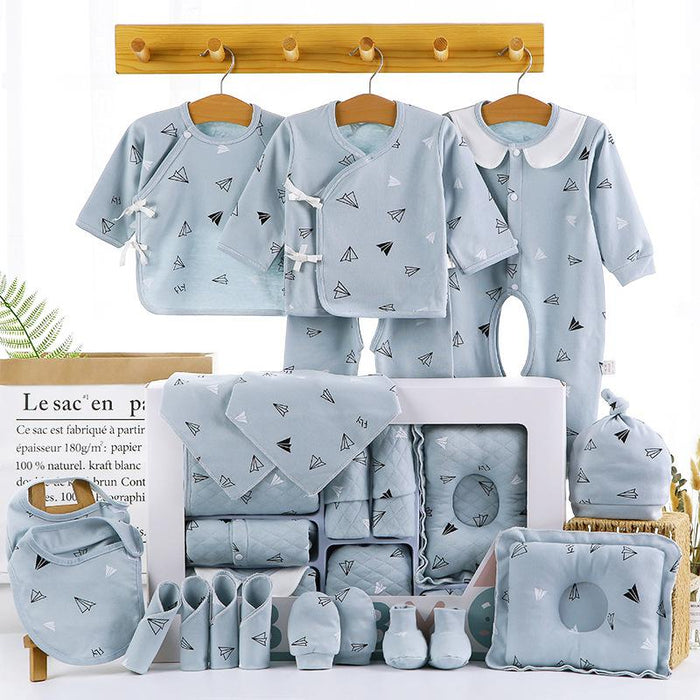 18/22 Pieces Newborn Infant Baby Gift Set B 18blue