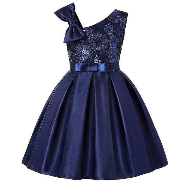 girls sequin embroidery elegant party dress