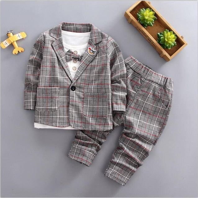 baby boys jacket shirt pants  party set