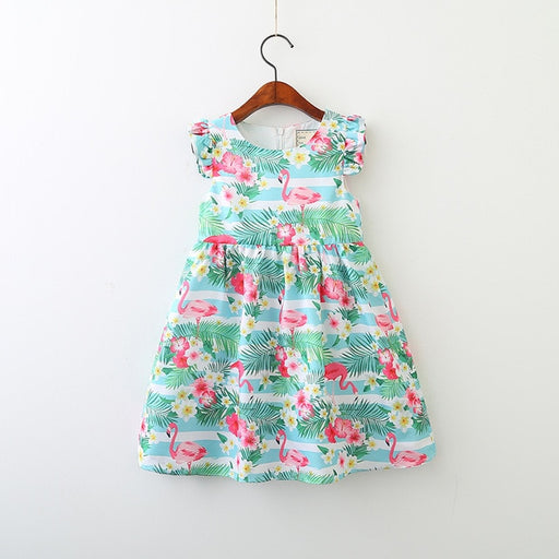 Girl Cartoon casual sleeveless dress