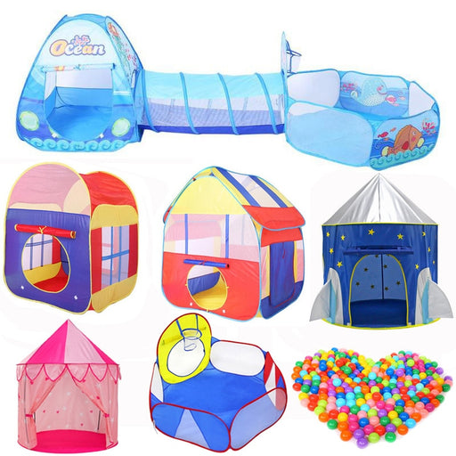 Foldable Kids Crawling Tunnel + Play Tents Set