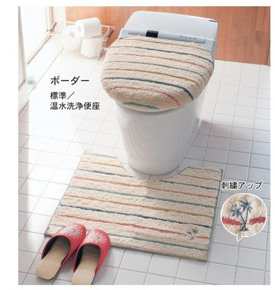 Washable Toilet Seat Cover bathroom Lid Mat Set