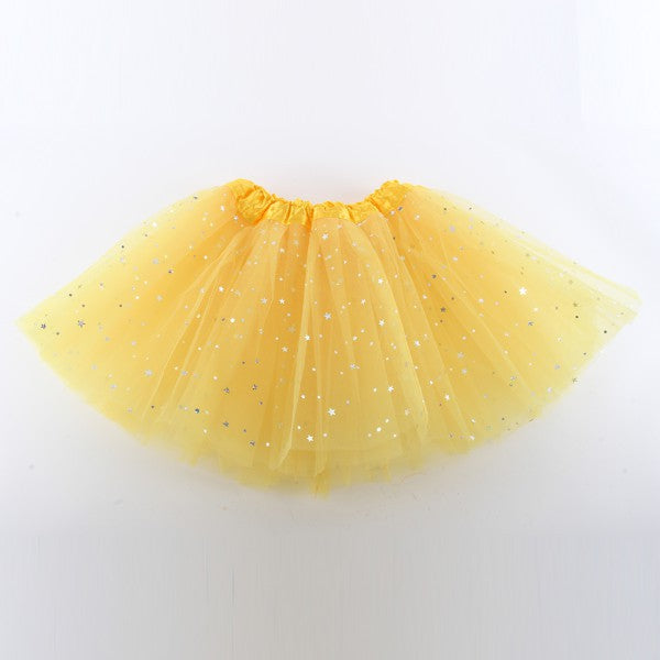 baby Girls Bling Sequin Tulle Tutu Skirt