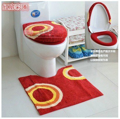 Soft Toilet 3Pcs Set Toilet Seat Lid Cover