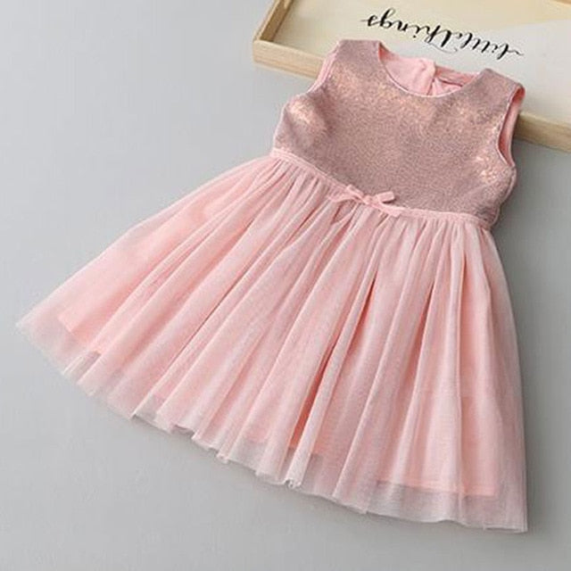 Girl Fashion Princess Party Sleeveless Summer dress