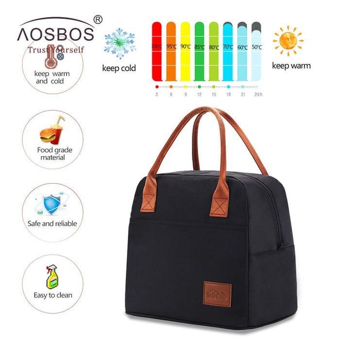Thermal Insulated Fashion Portable Cooler Lunch Bag