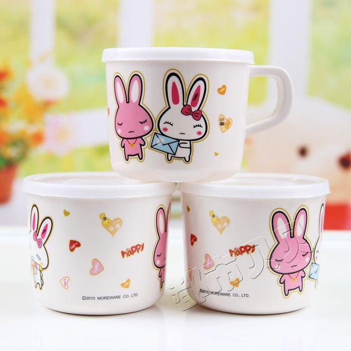 Baby Cups Melamine Cartoon mugs Drinkware with Handle