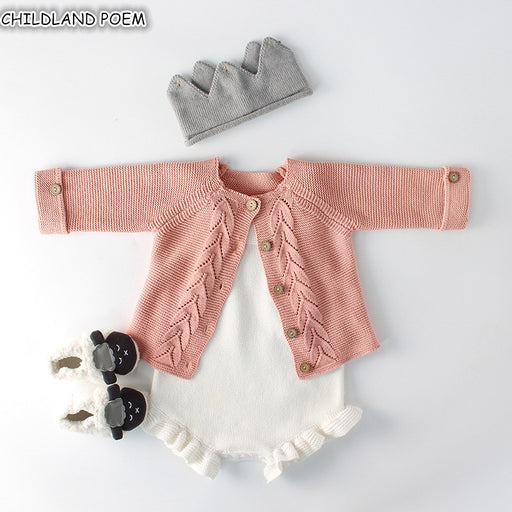 Baby Girls knitted Romper Set Sweater