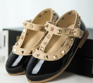 Girls Sandals Leather Party Shoes