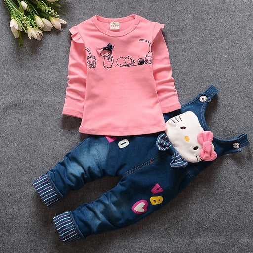 Baby Girls Clothing Set Denim jeans pant + Shirt Full Sleeve Set