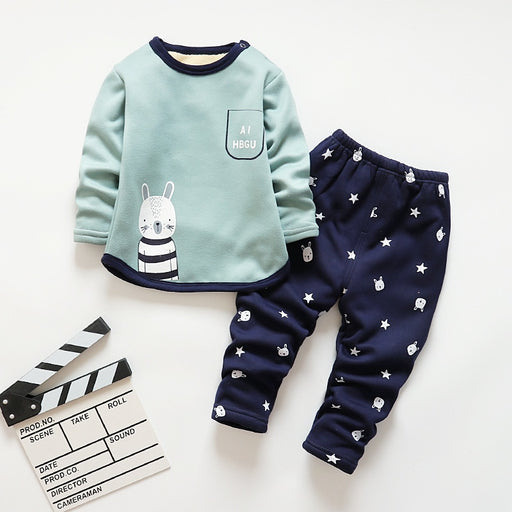 Baby Boys Warm winter Pajamas Sets Sleepwear