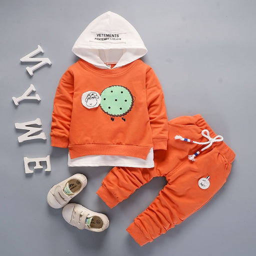 boys girl casual hooded coat+pants sets