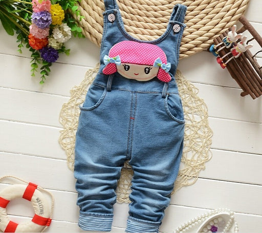 baby girls cowboy suspender jeans