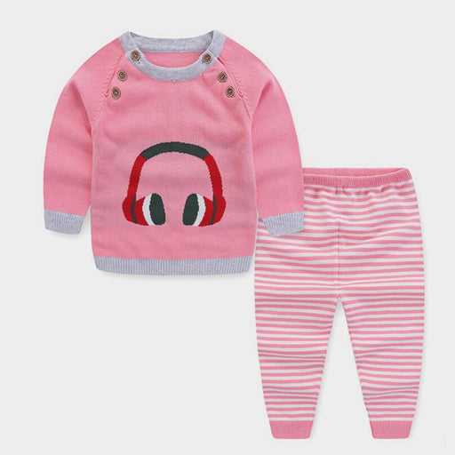 baby boys knitting sweater pants set