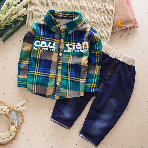 boys shirt+jeans tracksuit party set
