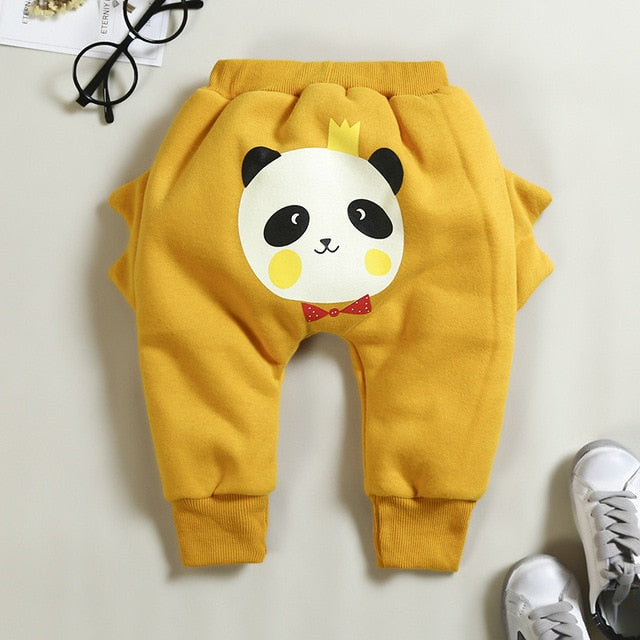 thicken warm baby boys girls pants