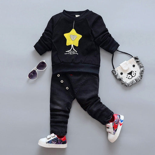 baby boy girl cotton shirt+pants set