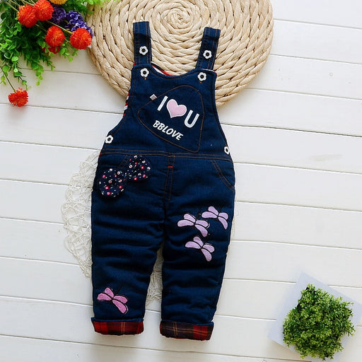 baby girl boys overall denim bib pants