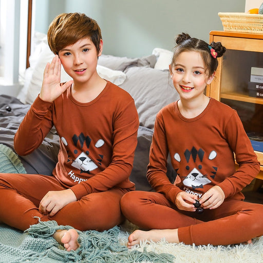 kids Boys Girls Cartoon Cotton Night Sleepwear