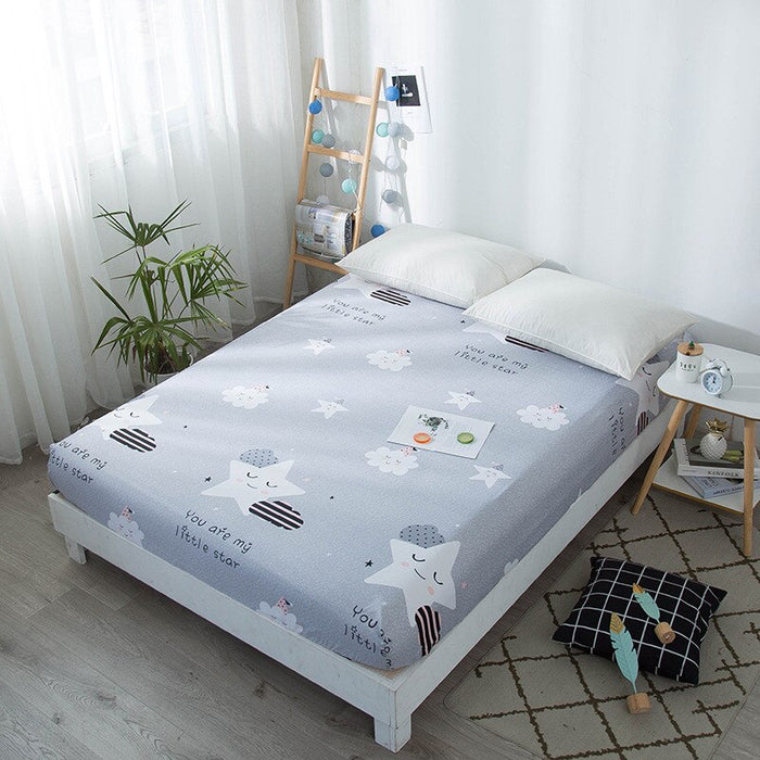 Bonenjoy Kids Bed Sheet Dinosaur Printed Fitted Sheet Queen Size Mattress Cover Protector Single Bed Sheet with Elastic type 4