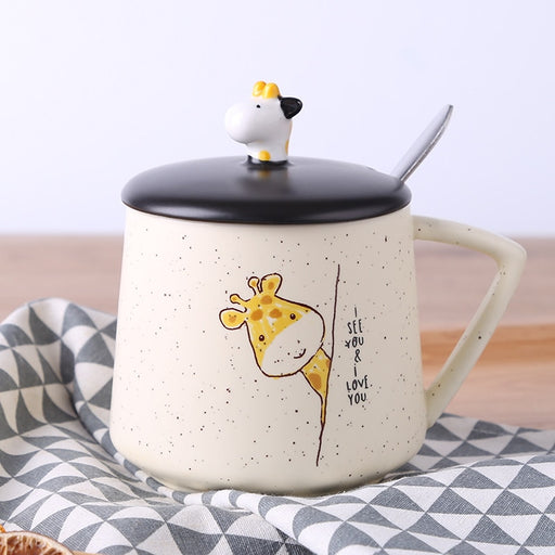 Cartoon Cat Mug Novelty Ceramic Cups