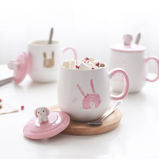 Cartoon Rabbit Heat-resistant Ceramics mug