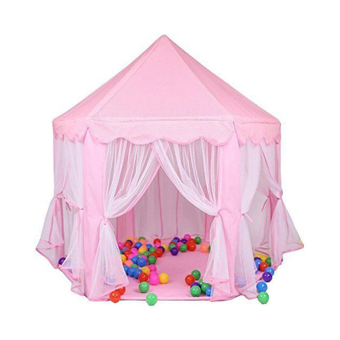 Pink Castle Tents  Kids Balls Pool Playhouse