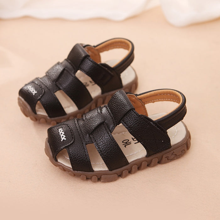 Toddler shoes baby sandals baby beach anti-slip shoes kids protect-toe sandal