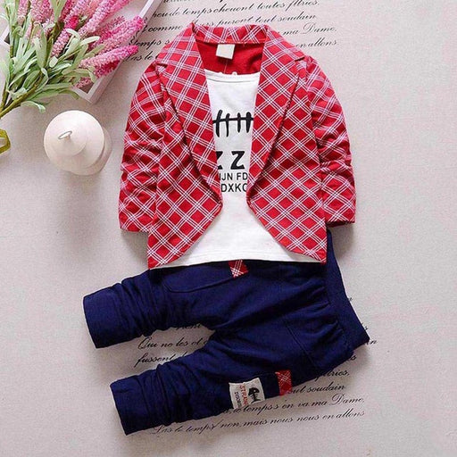 Baby Boys Boy tshirt+coat+Pants Party Sets