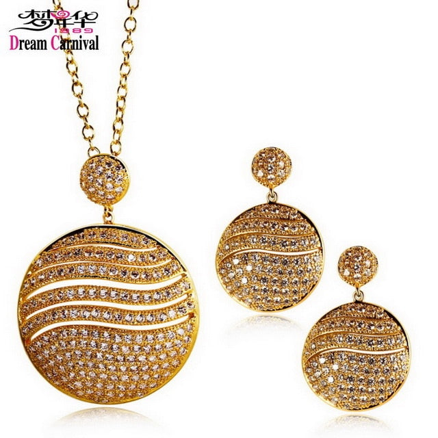 Cubic Zirconia Pendant Necklace Jewelry sets