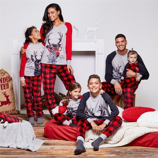 kids Family Matching Christmas Deer Pajamas Sets