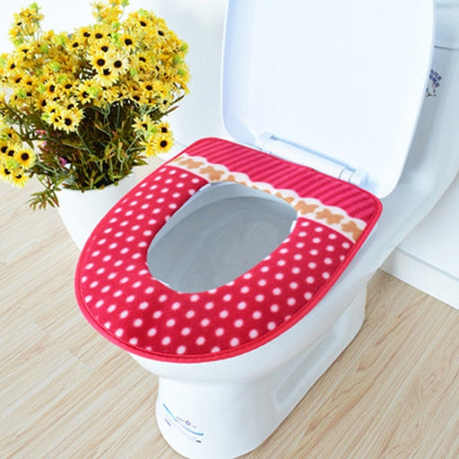 Fashion  Warmer Fleece Thick Toilet Seat Cover