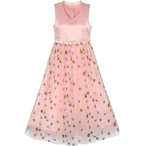 Flower Girl  Sparkling Sequins Party Dress