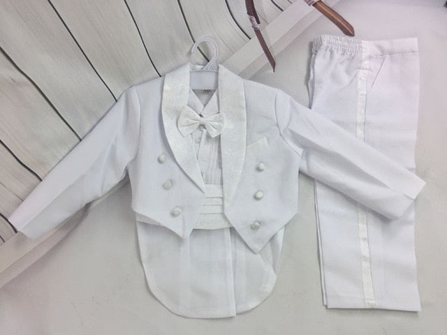 baby boys vest+shirt+pants party suits set