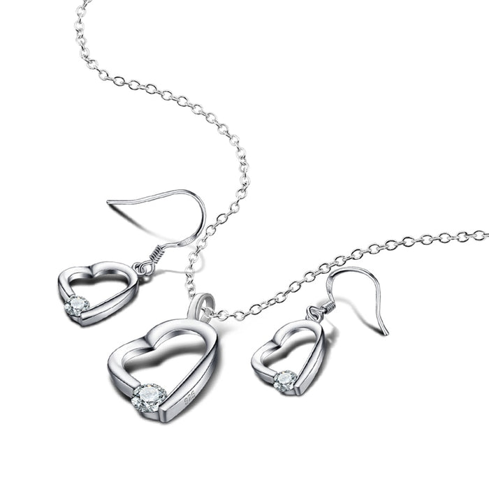 Sterling Heart Jewelry solid Silver Jewelry Set