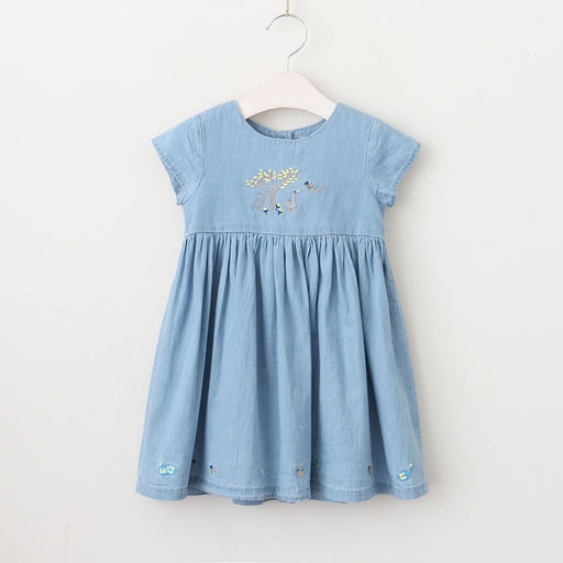 baby Girls Short Sleeve Denim Dress