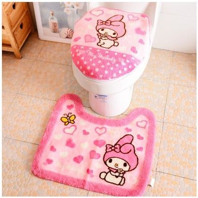 Super Soft Thicken Toilet Set Cover Bath Mat Set