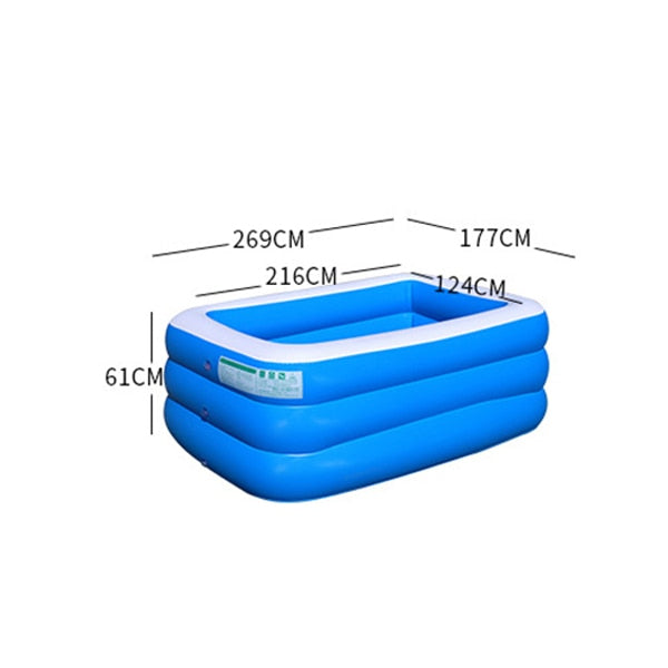 Eco-Friendly Bath Swim Tubs Plus Size Large PVC Kids Swimming Pools