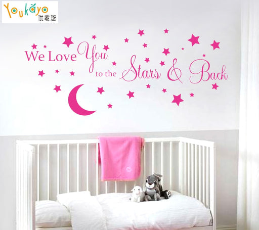 Kids Moon Quote Vinyl Wall Sticker