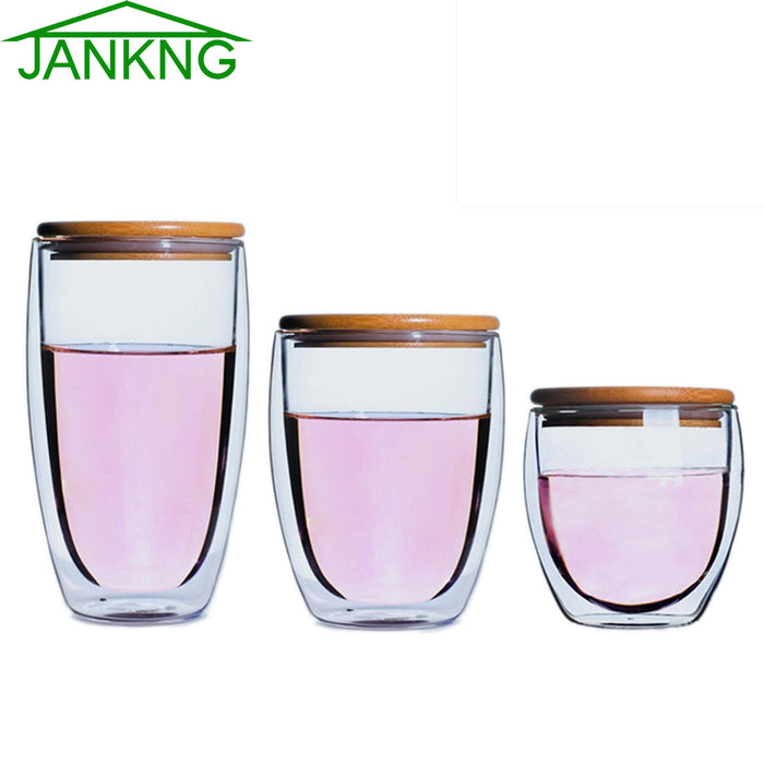 Heat-resistant Glass Cup with Bamboo Cover