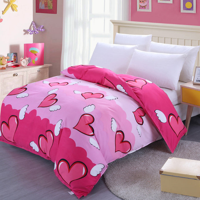 Student Girl Boy Soft Cotton Single Bed  150x210 Duvet Cover Set No. 6