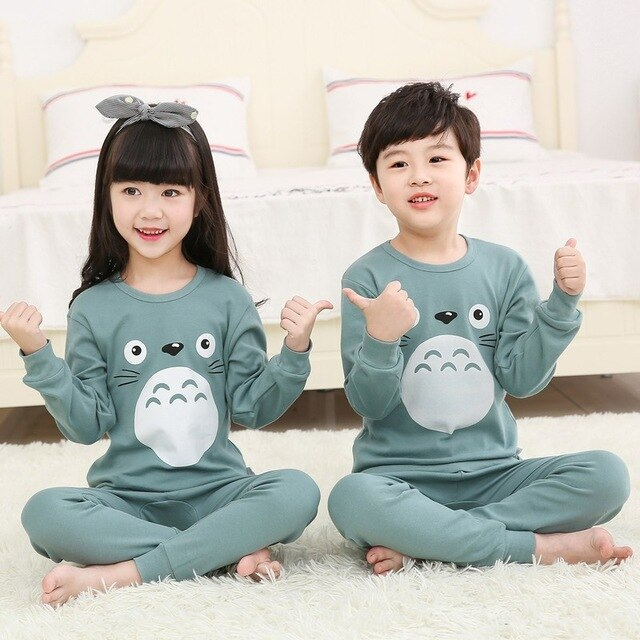 Kids boy Girls Rabbit Pattern Cartoon Sleepwear Night Suits