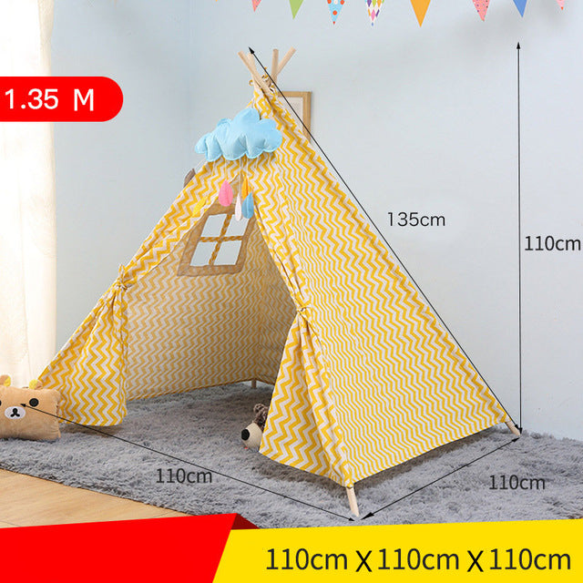 Kids Play Tent Cotton Canvas Tipi For Baby