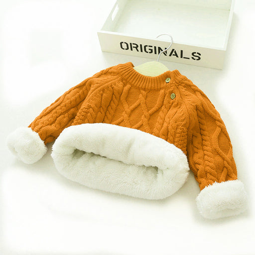 Winter boy girl thick Knitted sweater