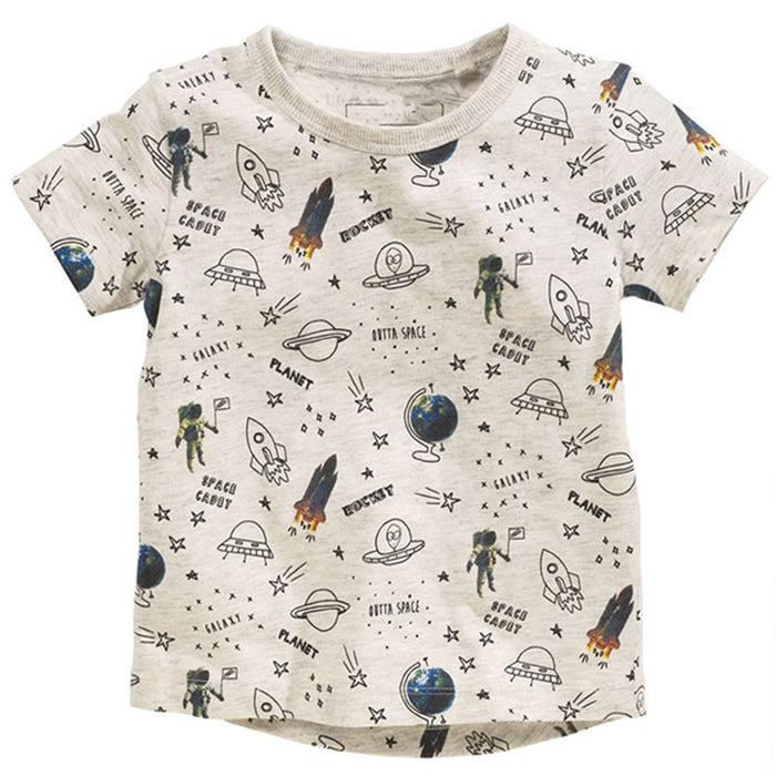 Boys Summer Short Sleeve Cartoon Tshirt