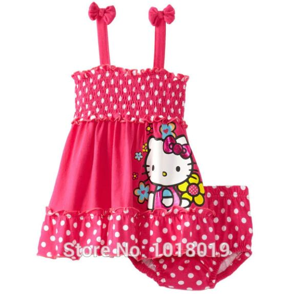 Baby Girls cotton Sleeveless Clothing Sets